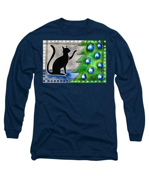Just Counting Balls - Christmas Cat Long Sleeve T-Shirt