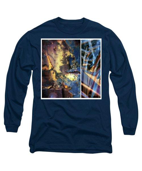 Juxtae #71 Long Sleeve T-Shirt by Joan Ladendorf