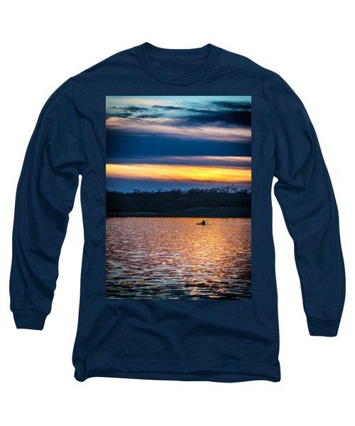 Kayak Sunset Long Sleeve T-Shirt