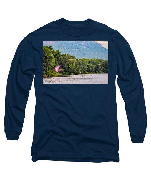 Kayaking On Nashawannuck Pond Easthampon Long Sleeve T-Shirt