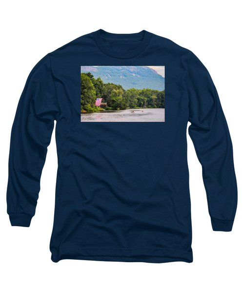 Kayaking On Nashawannuck Pond Easthampon Long Sleeve T-Shirt