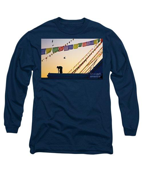 Long Sleeve T-Shirt featuring the photograph Kdu_nepal_d113 by Craig Lovell