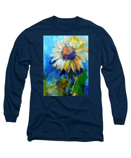 Long Sleeve T-Shirt featuring the painting Kellie's Sunflower by Jodie Marie Anne Richardson Traugott          aka jm-ART