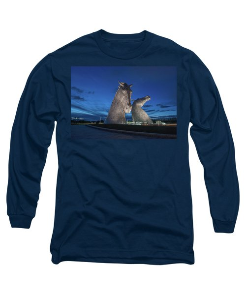 Kelpies  Long Sleeve T-Shirt by Terry Cosgrave
