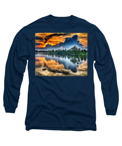 Long Sleeve T-Shirt featuring the photograph Kentucky Sunset June 2016 by Sumoflam Photography
