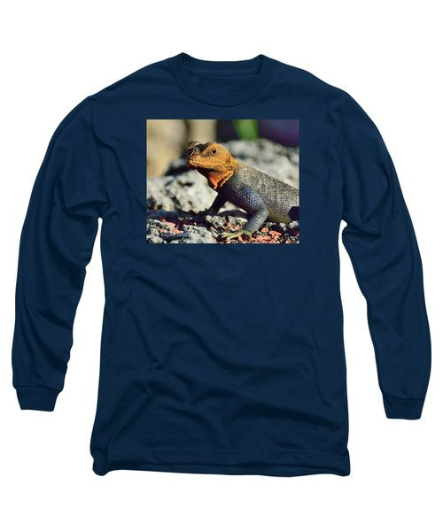Kenyan Rock Agama Long Sleeve T-Shirt by Edgar Torres
