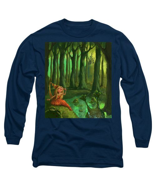 Kissing Frogs Long Sleeve T-Shirt by Andy Catling