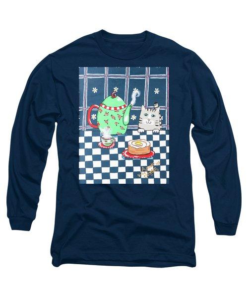 Kitty Cat Tea Time Long Sleeve T-Shirt