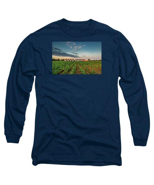 Knee High Sweet Corn Long Sleeve T-Shirt by Steven Sparks