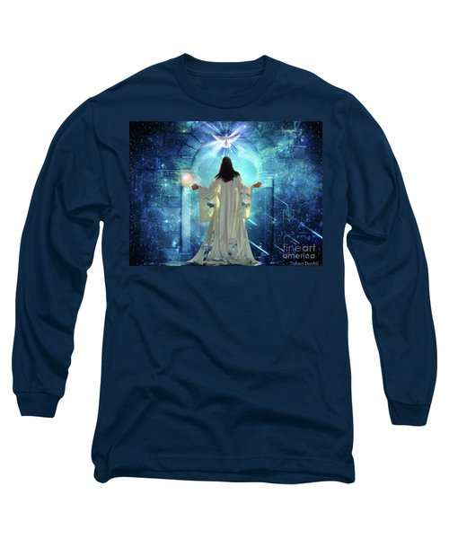 Long Sleeve T-Shirt featuring the digital art Knocking On Heavens Door by Dolores Develde