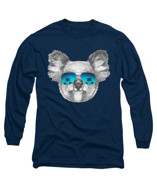 Koala With Mirror Sunglasses Long Sleeve T-Shirt