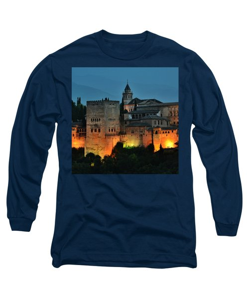 #laalhambra At Dusk - #ig_andalucia Long Sleeve T-Shirt