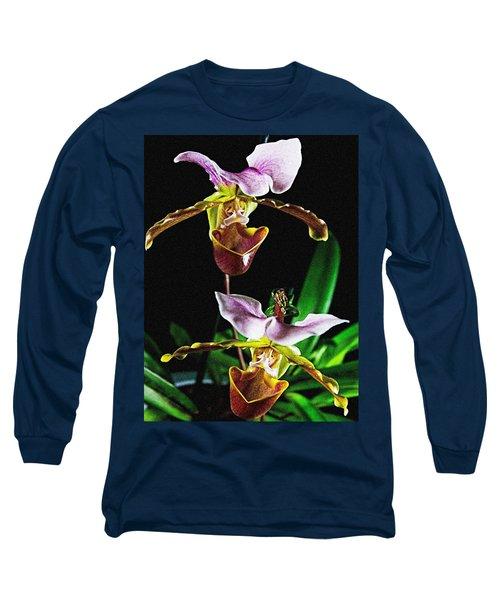 Lady Slipper Orchid Long Sleeve T-Shirt