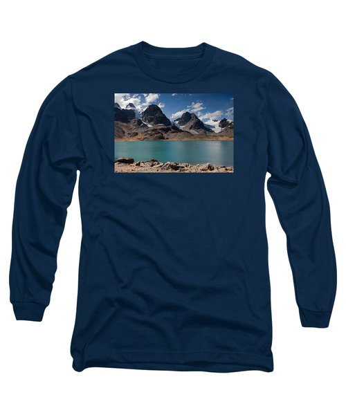 Laguna Chiar Khota In Condoriri Mountains Long Sleeve T-Shirt by Aivar Mikko