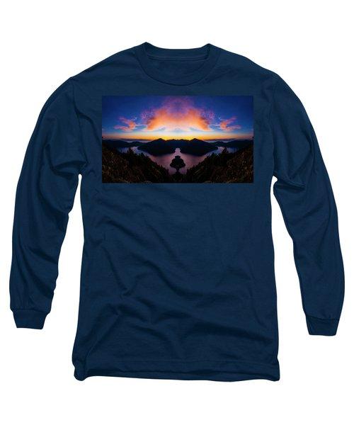 Lake Crescent Reflection Long Sleeve T-Shirt