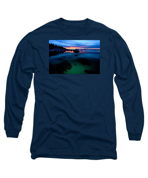 Lake Tahoe Clarity At Sundown Long Sleeve T-Shirt