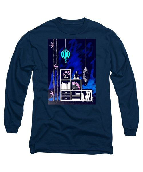 Lamps, Books, Bamboo -- Negative Long Sleeve T-Shirt