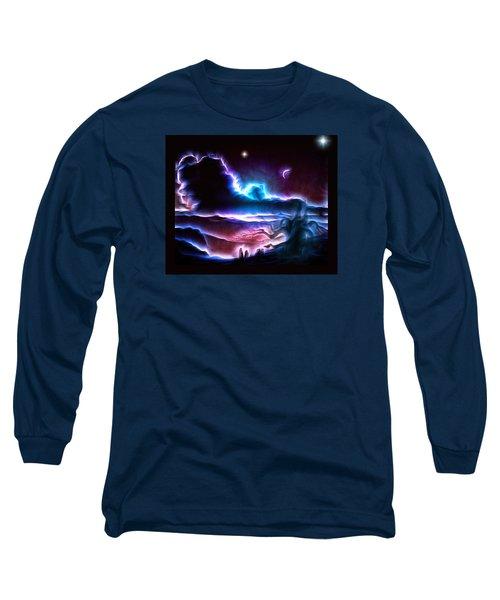 Land Of Nightmares Long Sleeve T-Shirt by Mario Carini