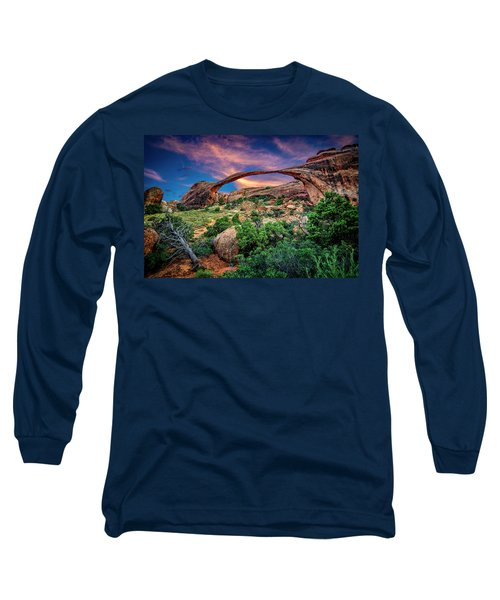 Landscape Arch At Sunset Long Sleeve T-Shirt