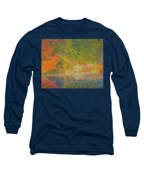 Langwater Pond Boathouse October 2015 Long Sleeve T-Shirt