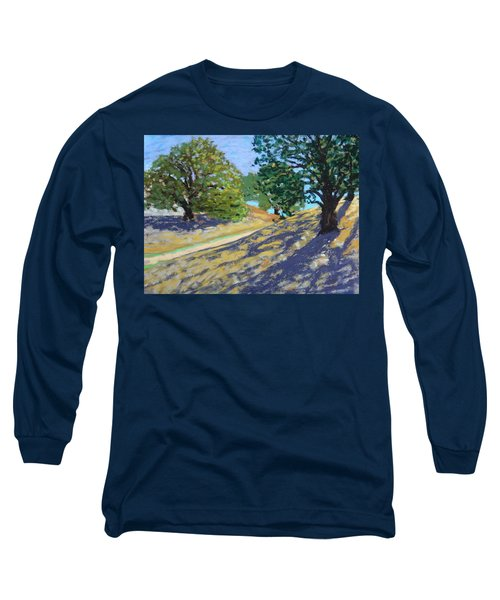Long Sleeve T-Shirt featuring the painting Late Light's Shadows by Gary Coleman