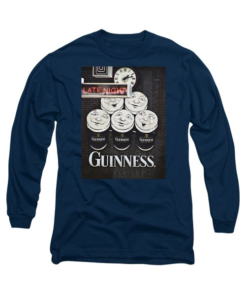 Late Night Guinness Limerick Ireland Long Sleeve T-Shirt