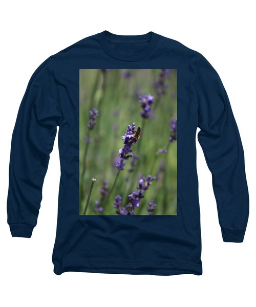 Lavender And Honey Bee Long Sleeve T-Shirt