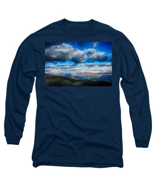 Layers Of Clouds On Mount Evans Long Sleeve T-Shirt