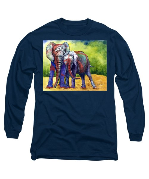 Lean On Me Long Sleeve T-Shirt by Barbara Jewell