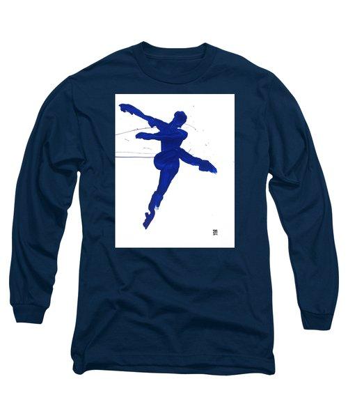 Leap Brush Blue 1 Long Sleeve T-Shirt by Shungaboy X