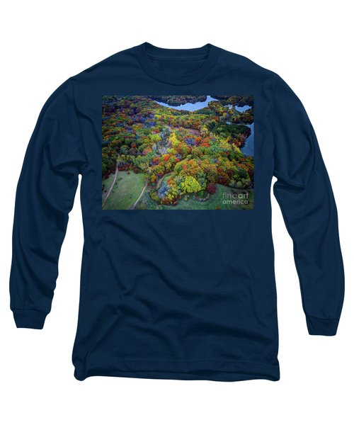 Lebanon Hills Park Eagan Mn Autumn II By Drone Long Sleeve T-Shirt