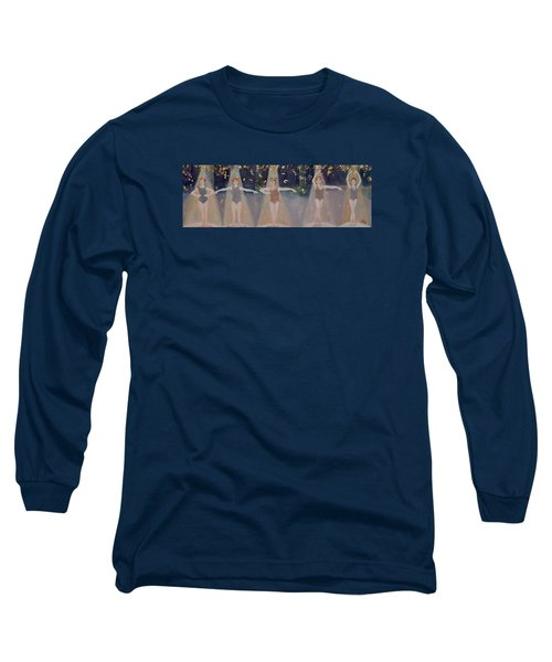 Les Cinq Positions Long Sleeve T-Shirt by Julie Todd-Cundiff