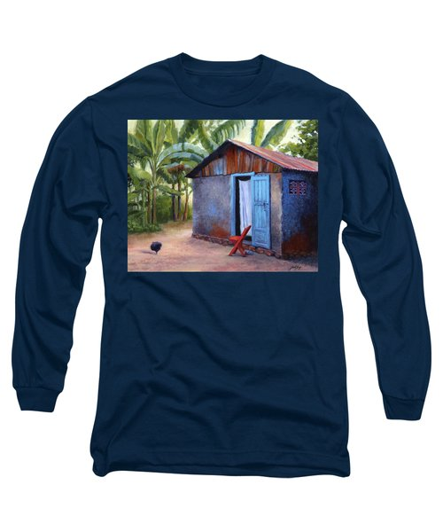 Long Sleeve T-Shirt featuring the painting Life In Haiti by Janet King