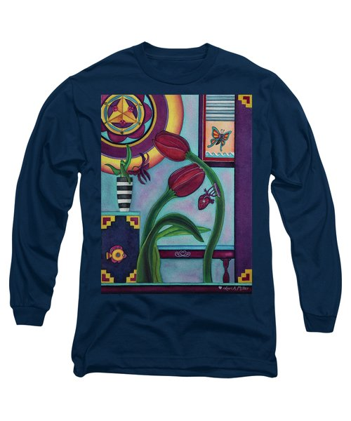 Long Sleeve T-Shirt featuring the painting Lifting And Loving Each Other by Lori Miller