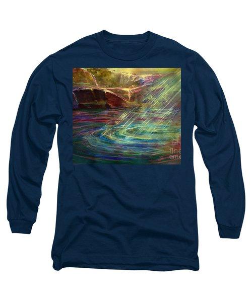 Light In Water Long Sleeve T-Shirt by Allison Ashton