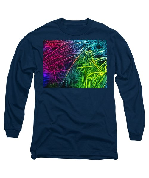 Light Painting Colors Abstract Experimental Chemiluminescent Photography Long Sleeve T-Shirt