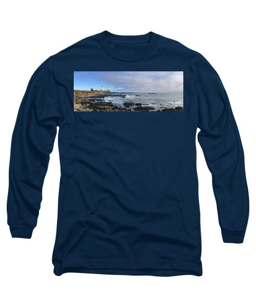 Lighthouse And Coastview Long Sleeve T-Shirt