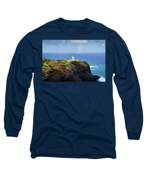 Lighthouse On A Cliff Long Sleeve T-Shirt