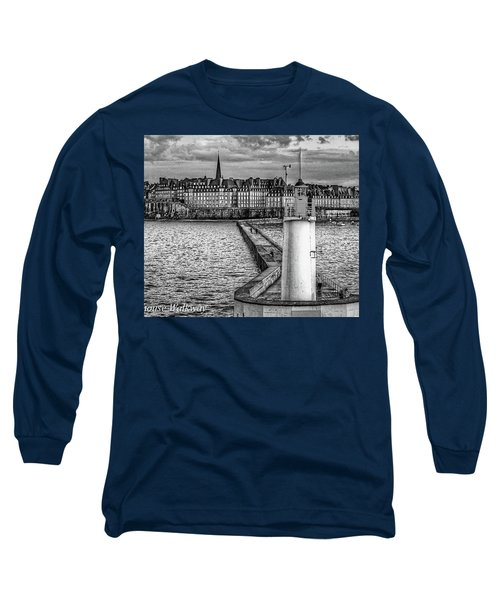 Long Sleeve T-Shirt featuring the photograph Lighthouse Walkway by Elf Evans