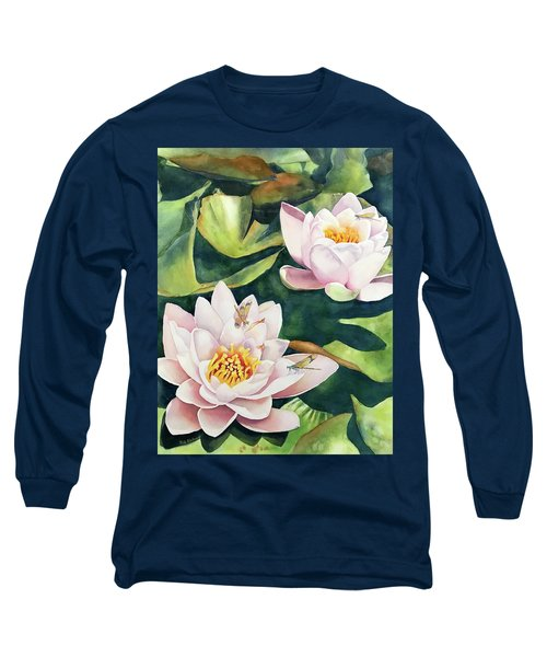 Lilies And Dragonflies Long Sleeve T-Shirt