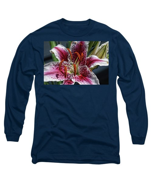 Long Sleeve T-Shirt featuring the photograph Lilly Up Close by Rick Friedle