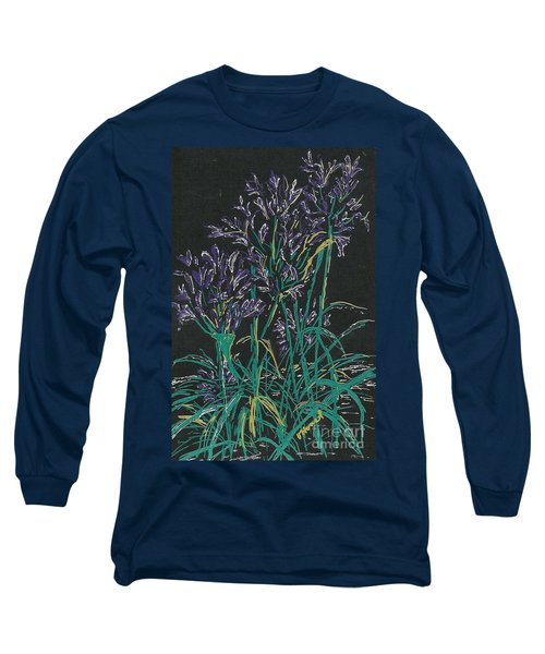 Long Sleeve T-Shirt featuring the mixed media Lily Of The Nile  by Vicki  Housel