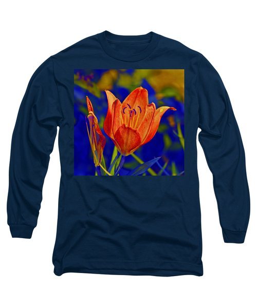 Long Sleeve T-Shirt featuring the photograph Lily With Sabattier by Bill Barber
