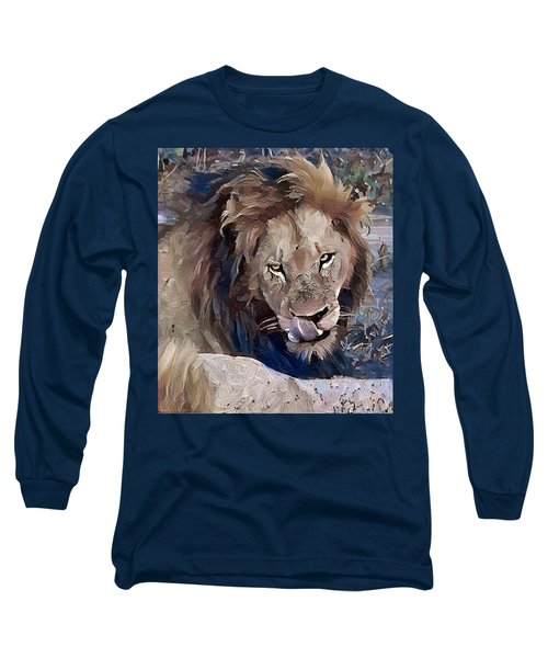 Lion With Tongue Long Sleeve T-Shirt