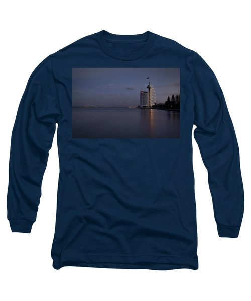 Lisbon Night Scene Long Sleeve T-Shirt