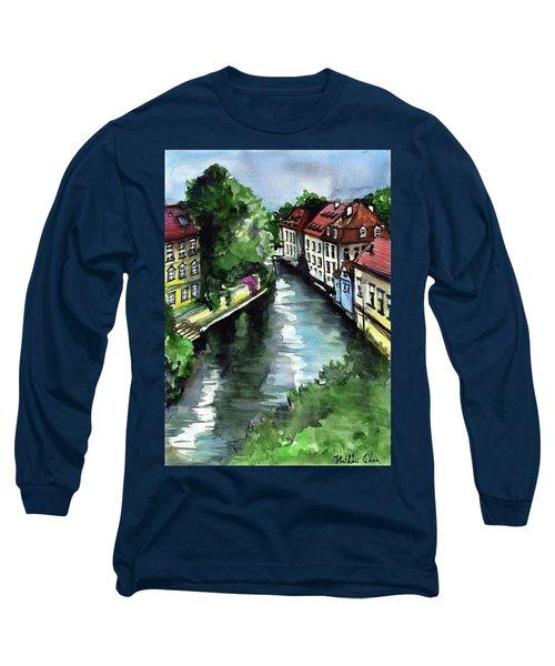 Little Venice In Prague Certovka Canal Long Sleeve T-Shirt