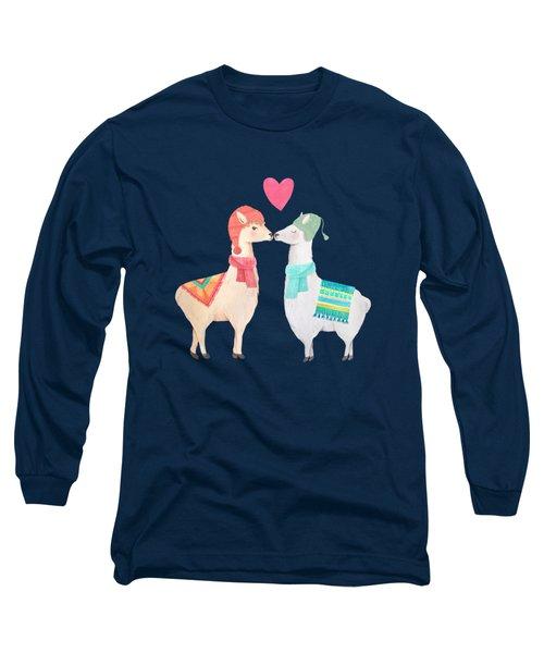 Llamas In Love Long Sleeve T-Shirt