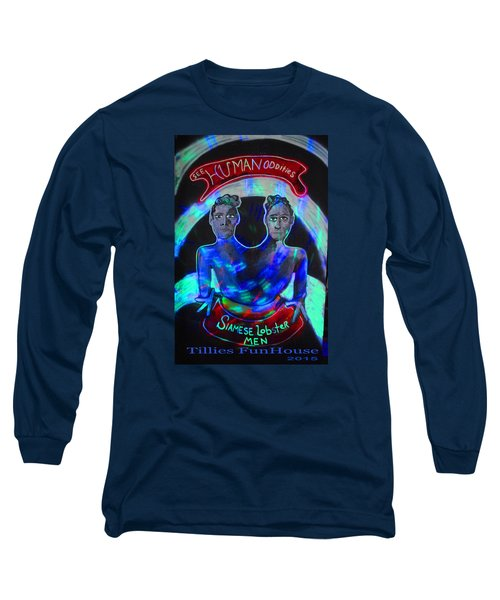 Long Sleeve T-Shirt featuring the painting Lobster Men by Patricia Arroyo