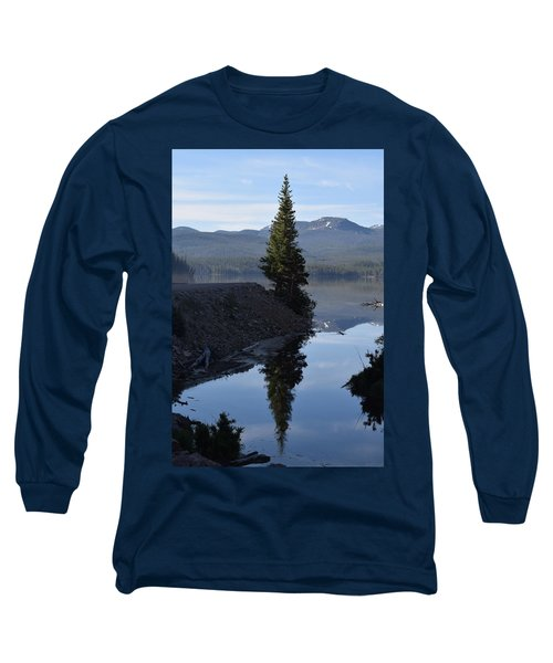 Lone Pine Reflection Chambers Lake Hwy 14 Co Long Sleeve T-Shirt