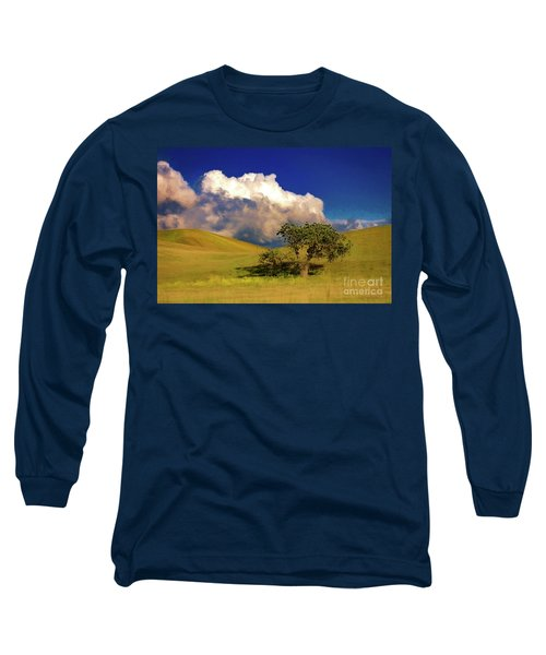 Long Sleeve T-Shirt featuring the photograph Lone Tree With Storm Clouds by John A Rodriguez